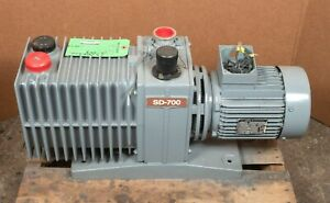 Varian Sd 700 2 Stage Rotary Vane Vacuum Pump With Leyroy Somer Motor