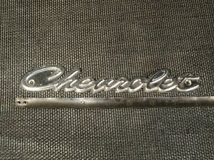Script Chevrolet Emblem 8 Long Metal