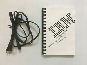 Ibm Selectric System 2000 Wheelwriter Typewriter Operator s Guide cable