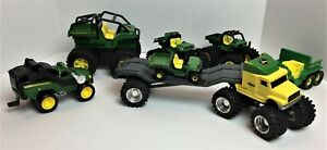 Lot of 8 Ertl John Deere Monster Truck 4 Wheelers ATV Used in Working Order *198