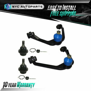 2x Front Upper Control Arm 2x Lower Ball Joint For Expedition F 150 F 250 2wd