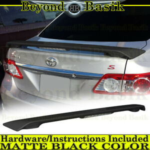 For 2009 10 11 12 2013 Toyota Corolla Factory Style Spoiler W led Matte Black