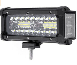 7 5 Inch 120w Dual Side Shooter Led Work Light Driving Bar Combo Offroad Atv New