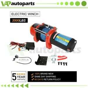 Electric Winch Synthetic Rope Winch Off Road Winch Towing Truck 1587kg 3500lbs