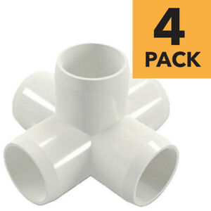 3 4 Inch 5 way Cross Pvc Fitting Connector Elbow 4 pack Pb0755w 4p