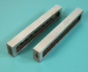 Vtg Machinists 8 6 Drilled Steel Milling Drilling Fixture Parallels Pair