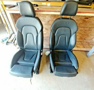Oem Audi A4 B8 Black Leather Lh Rh Power Front Seats Complete As Shown Extends
