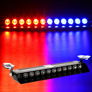 12led Blue red Strobe Light Warning Auto Lamp Emergency Signal Police Beacon