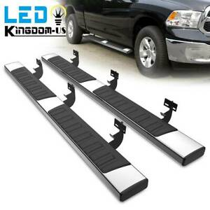 For 2009 2018 Dodge Ram 1500 Crew Cab 6 Side Steps Nerf Bars Running Boards Ss