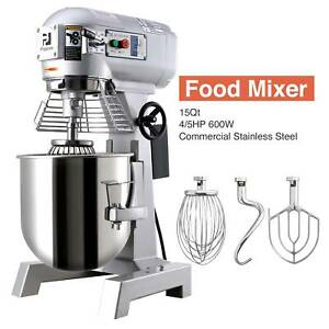 Three Speed 15qt Commercial Dough Food Mixer Gear Driven Pizza Bakery 600w 4 5p