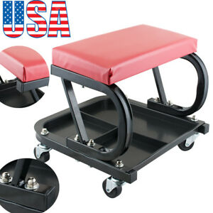 Car Repair Roller Seat Padded Mechanics Creeper Auto Bench Garage Vehicle Tool A