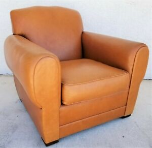 Classic Mcm Ralph Lauren Genuine Leather Club Lounge Armchair