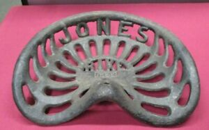 Antique Cast Iron Jones Rake D222 Tractor Implement Seat Farm Equipment Chicago