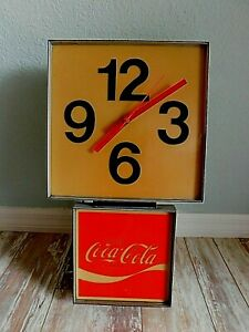 Vintage Coca-Cola Clock Store Restaurant Sign