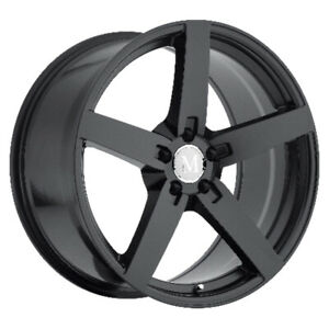 Mandrus Arrow Rims Wheels For Mercedes 17x8 5x112 Matte Black Qty4