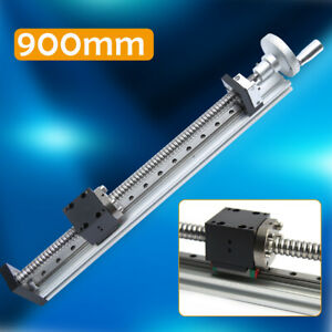 Cnc Linear Guide Rail Slide Stage Actuator Ball Screw Motion Table W Handwheel