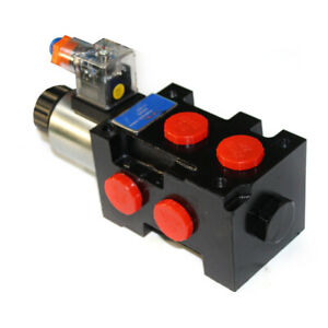 Hydraulic Solenoid Selector diverter Valve 13 Gpm 12v Dc 10 Sae 6ports 13gpm
