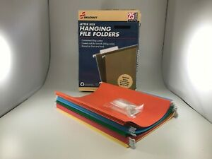 Skilcraft 108637 Hanging File Folders Letter Size 25 box Assorted Colors new