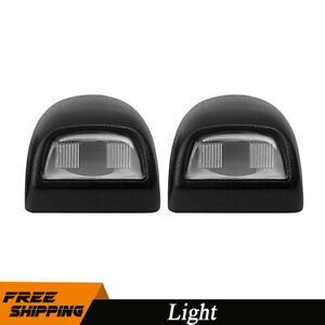 2pcs Car Rear License Plate Light Lens Set For Silverado Sierra Pickup Escalade