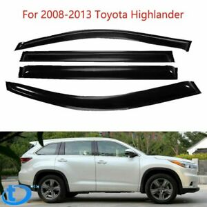 Fit For 2008 2013 Toyota Highlander Window Visor Rain Guard Shade Door Weather