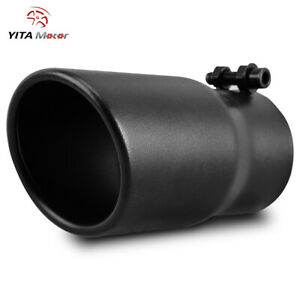 Yitamotor Exhaust Tip 2 5 Inlet 3 Outlet 6 long Tail Pipe Stainless Steel