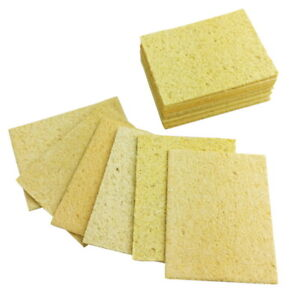 10 Yellow Cleaning Sponge Cleaner For Enduring Welding Electric Iron Soldering