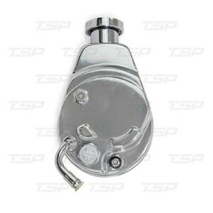 Tsp Chevy Chrome Steel P Series Power Steering Pump Chevrolet Gm Saginaw