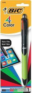 Bic 4 Color Ballpoint Pen With Stylus Medium Point Assorted Ink 2 Pack