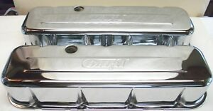Chrome Plated Dart Valve Cover Set Bbc Stamped Steel See Photos Free Shipping