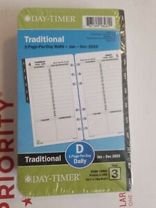 Day timer 2020 Refill Size 3 Traditional Daily Planner 3 75 x6 75 1page Per Day