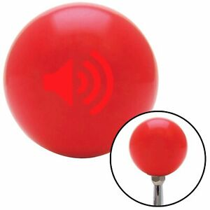 Red Speaker On Red Shift Knob Usa Shifter Auto Manual Custom Brody Drag Trans Si