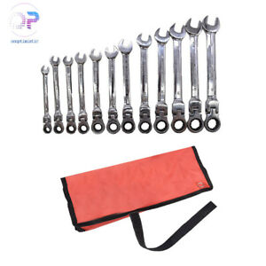 12pc Metric Flexible Head Ratcheting 8 19mm Wrench Combination Spanner Tool Set