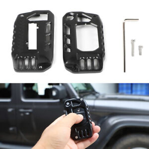 Alloy Key Cover Case Protector Shell For Jeep Wrangler Jl Jt Gladiator 2018 2020