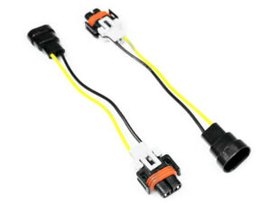 Pair Of 9006 To H8 Headlight Fog Light Conversion Wiring Harness Adapters