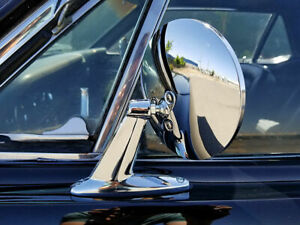 Chrome Round Door Mirrors Classic Musclecar Restomod Lowrider Pair New