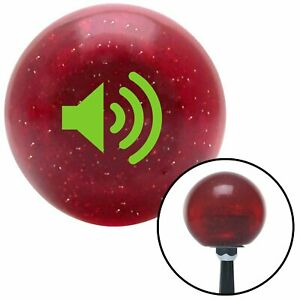 Green Speaker On Red Metal Flake Shift Knob Usa Shifter Auto Brody Drag Tree Fly