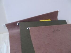 Lot Of 50 Used Hanging Legal Size File Folders Some Plastic Tabs s0