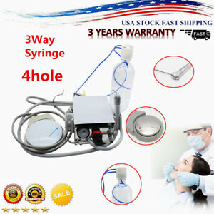 Dental Portable Turbine Unit Work For Air Compressor Triplex Syringe 4h