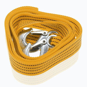 4 Ton Heavy Duty Tow Strap With Safety Hooks 2 X 16 10 000 Lb Capacity Polyest