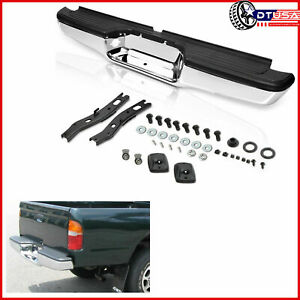 Replacement Chrome Rear Step Bumper For Toyota Tacoma 95 04