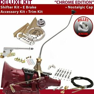 700r4 Shifter Kit 23 Swan E Brake Cable Clamp Clevis Trim Kit For Gennie Chev
