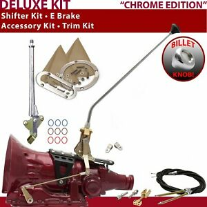 Th400 Shifter Kit 23 E Brake Cable Clevis Trim Kit For Gennie Truck Car Lokar