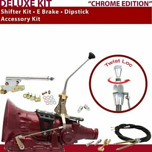 700r4 Shifter Kit 10 E Brake Cable Clevis Dipstick For Truck Car Gennie Chev