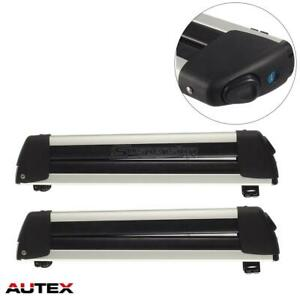 2pcs 22 Aluminum Universal Snowboard Carrier Roof Rack
