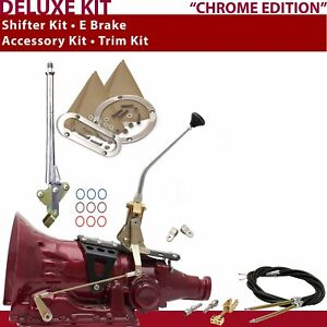 700r4 Shifter Kit 10 E Brake Cable Clevis Trim Kit For Car Gennie Truck Chev