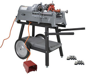 Reconditioned Ridgid 535 V1 Pipe Threader With Cart Die Head And Extra Dies
