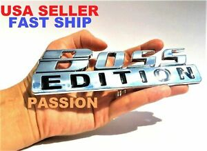 The Boss Edition Chrome Fit All Cars Logo Custom Emblem Letters High Quality Fits 1950 Ford