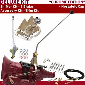 Th400 Shifter Kit 23 E Brake Cable Clamp Clevis Trim Kit For Truck Gennie Chev