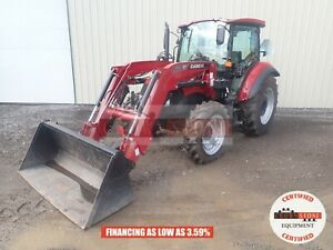 2017 Case Ih 75c Loader Tractor Cab Heat ac 4x4 3 Point 2 Remotes 121 Hours 76hp