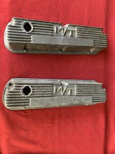 M T Small Block Ford Valve Covers Fits Windsor 260 289 302 351w Used